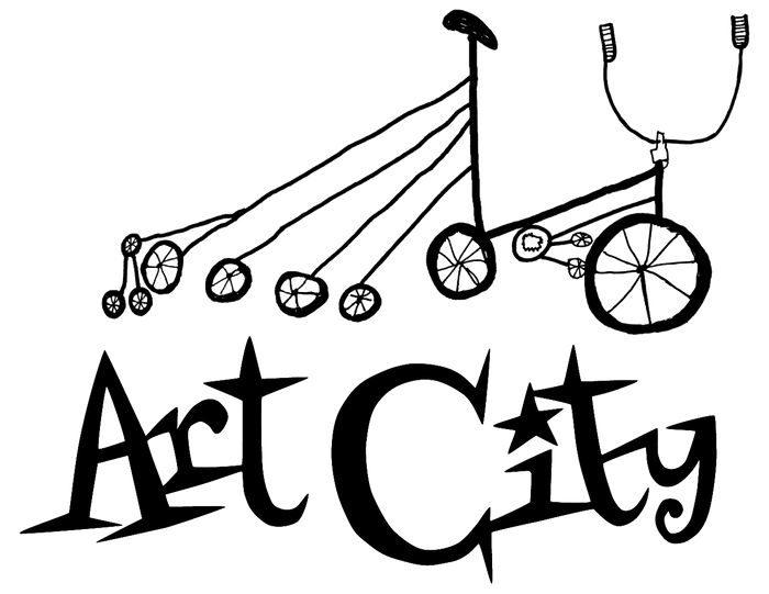 art city logo, bicycle