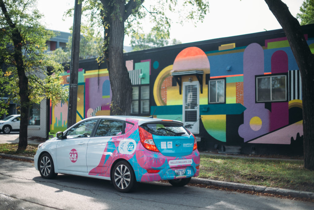 peg city car coop car by Wall to  Wall Mural