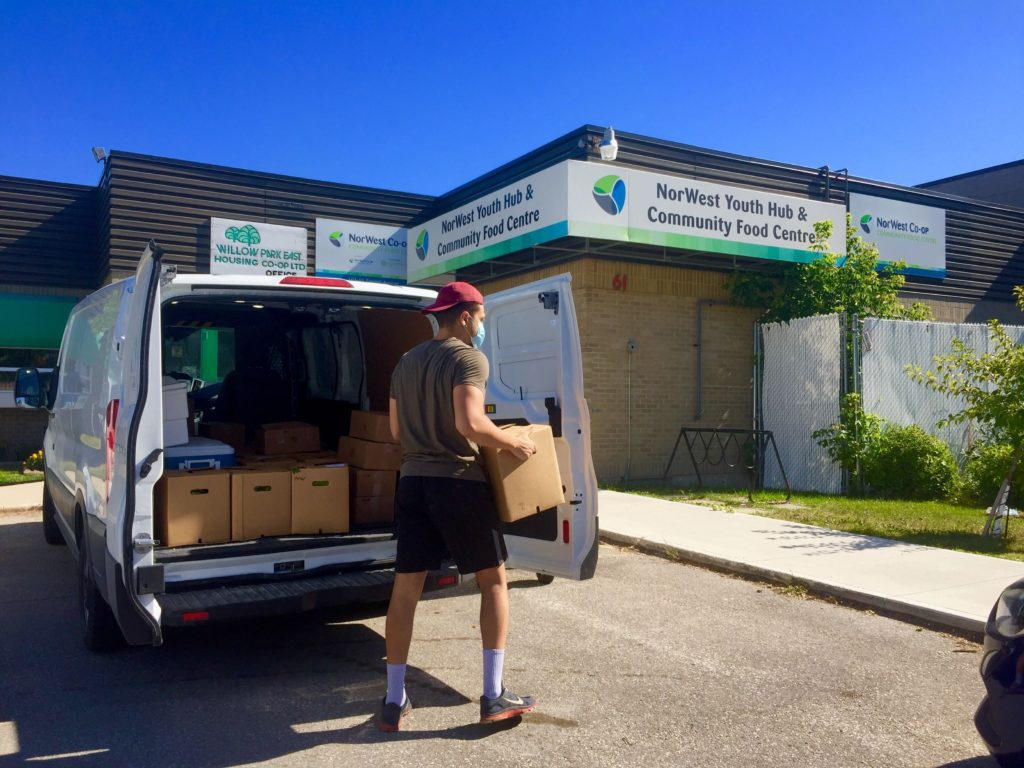 Food delivery to Norwest Community food centre