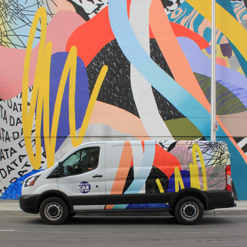 Ford 150 Transit & mural