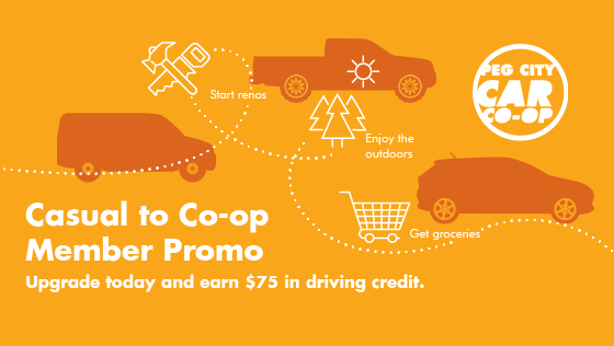casual to co-op member promotion, earn $75 in driving credit when you upgrade